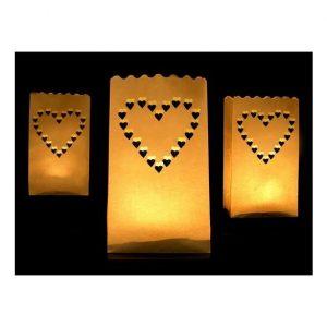 szívecskés papír lampionok-10 darab