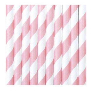 Papír szívószálak - világos rózsaszín