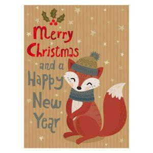 Cuki, mókusos karácsonyi mini kártya