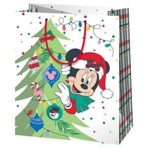 Gigantikus méretű Minnie egeres karácsonyi ajándéktasak
