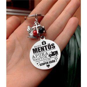 Mentős ajándék, gravírozott kulcstartó