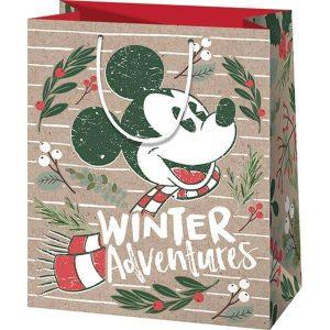 Mickey egeres karácsonyi tasak- környezetbarát