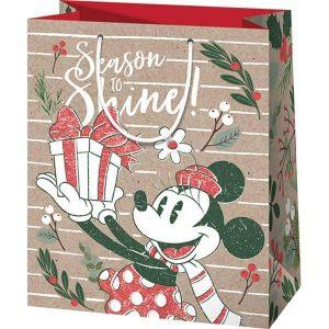 Minnie egeres karácsonyi tasak - környezetbarát