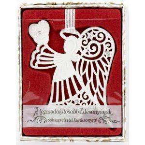 Karácsonyfadísz Swarovski kövekkel - angyal