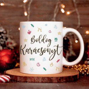 Karácsonyi bögre - Boldog Karácsonyt felirattal