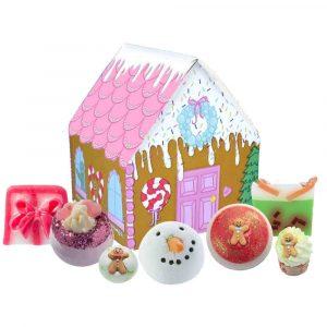 Mézeskalács házikó ajándékcsomag karácsonyra