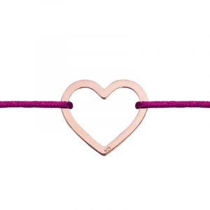 Rosé arany bevonatú Niuni karkötő, szív medállal- választható színben