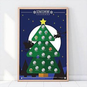 karácsonyi kaparós poszter - 24 adventi program
