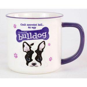 Kerámia bögre kutyás gazdinak-Francia bulldog