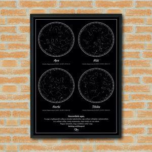 4 csillagállásos, egyedi csillagkép