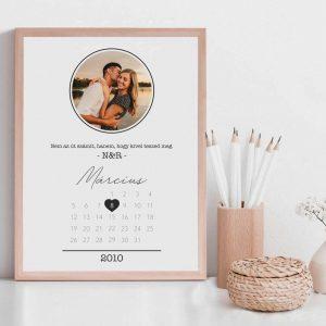 Szerelmes naptár kép saját fényképpel