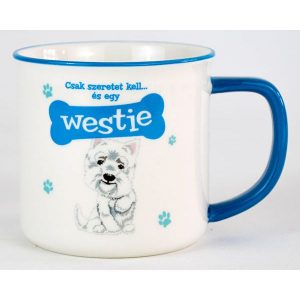 Kerámia bögre kutyás gazdiknak- Westie