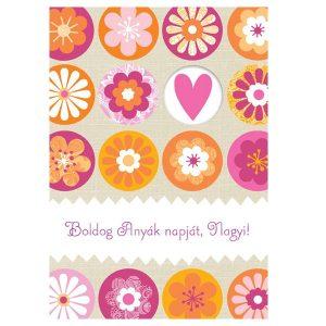 Virágos, Anyák napi képeslap nagymamáknak