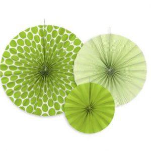 Zöld dekorációs rozetták 3 db