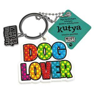 Kutyaimádó, színes kulcstartó