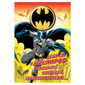 Batman stílusú szülinapi képeslap