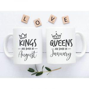Queen and King páros szülinapi bögre